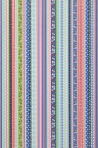 Wallpaper Hellen Matt Ribbons Stripes White Yellow green Light pink Pastel turquoise Ruby red Sapphire blue