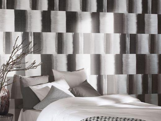 Papel pintado Fenegra tonos de gris Ver habitación