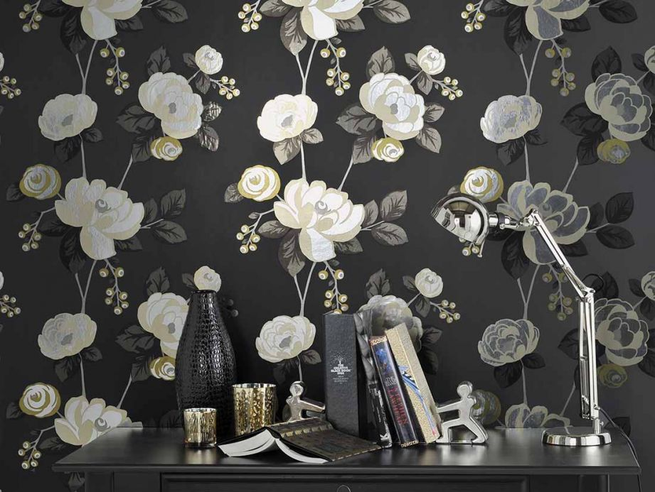 Archiv Wallpaper Divine silver Room View