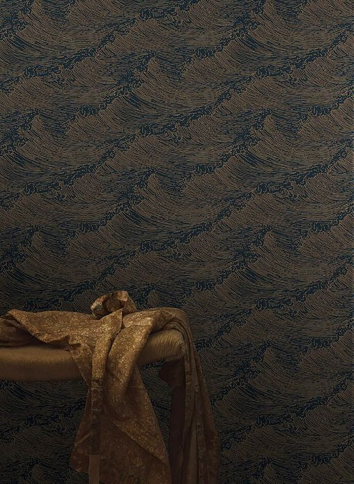 Luxury Wallpaper Wallpaper Linara gold shimmer Room View