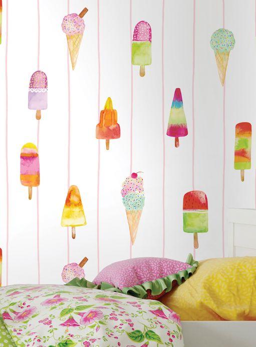 Papel de parede divertido Papel de parede Gran Gelato multicolorido Ver quarto