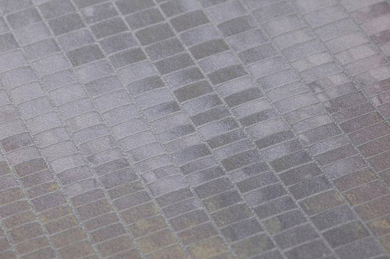 Carta da parati eniga grigio violetto grigio silice for Carta parati anni 70 vendita