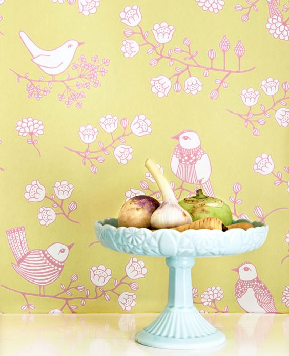 Archiv Wallpaper Sugar Tree green beige Room View