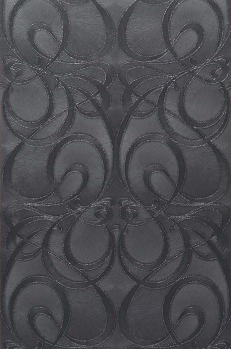 Papier peint Nova (Gris noir, Anthracite, Argent scintillant ...