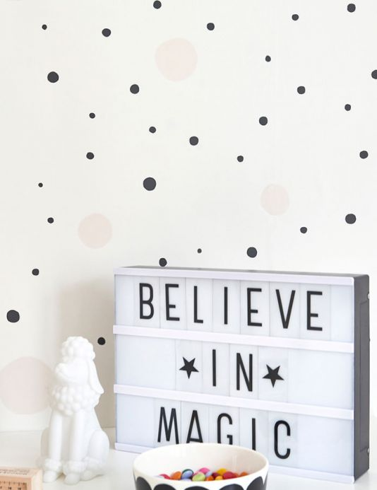 Majvillan Wallpaper Wallpaper Confetti cream Room View