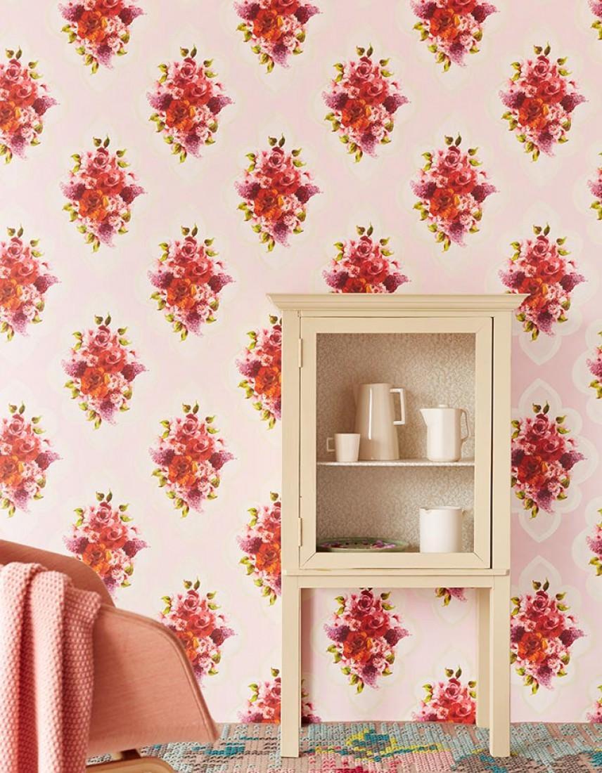 papier peint malona rose pale blanc cr me vert ivoire clair brillant lavande rouge. Black Bedroom Furniture Sets. Home Design Ideas