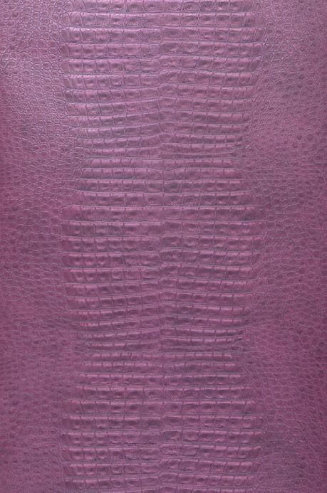 Archiv Papel pintado Gavial violeta rojizo Ancho rollo