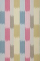 Wallpaper Milella Matt Stripes Pale blue Pale grey brown Heather violet Sand yellow