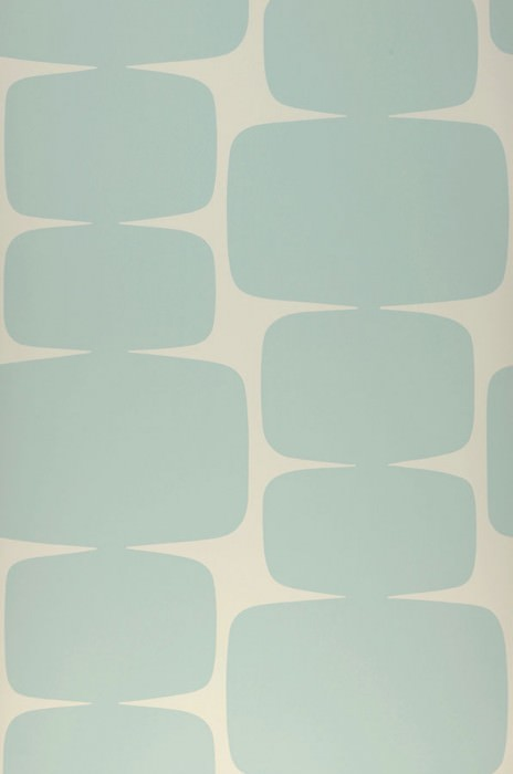 Wallpaper Waris Matt Graphic elements Grey white Light mint turquoise