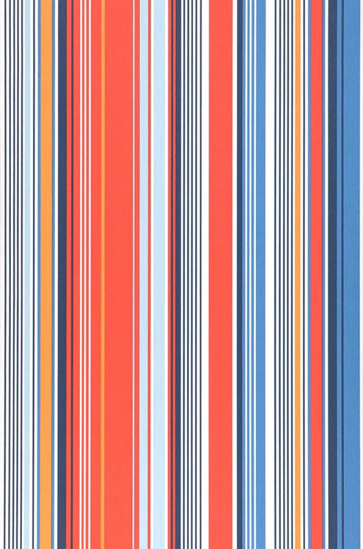 Papel pintado sinja azul azul oscuro naranja rojo blanco papeles de los 70 - Papel pintado de los 70 ...