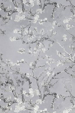 Carta da parati VanGogh Blossom grigio chiaro Larghezza rotolo