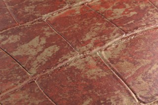 Wallpaper Croco 13 Matt Imitation leather Beige Red brown