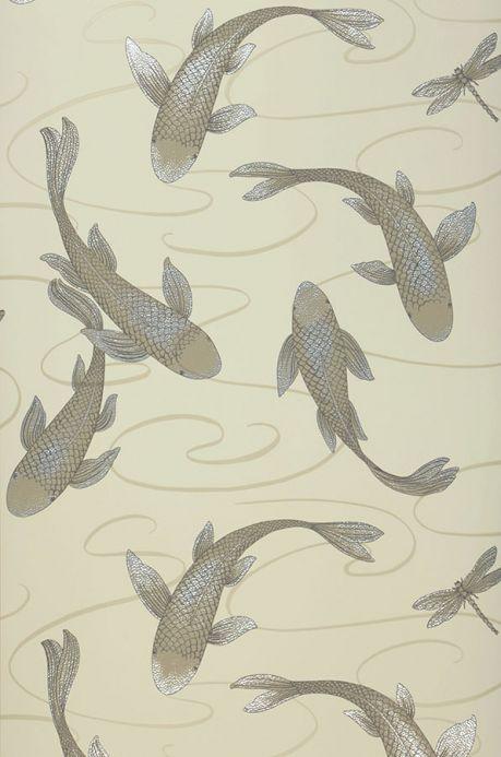 Archiv Papier peint Drusilla ivoire clair Largeur de lé