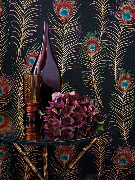 Funky Wallpaper Wallpaper Eistin anthracite Room View
