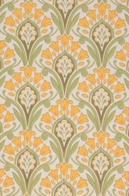 Papel de parede Florence amarelo milho Detalhe A4