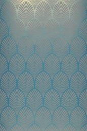 Wallpaper Lyria turquoise blue shimmer