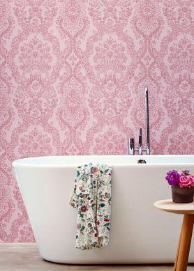 Papier peint Nuria rose pale Vue pièce