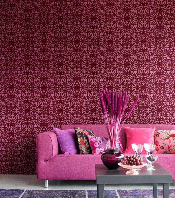 Archiv Papel de parede Juventas violeta clarete escuro Ver quarto