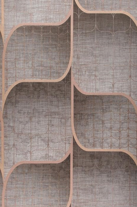 Wallpaper Hunapu Shimmering Net texture Grey brown Light grey brown Light brown