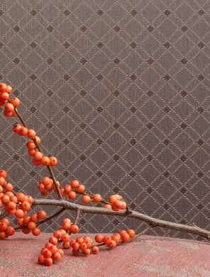 Papel pintado Constantin gris beige Ver habitación