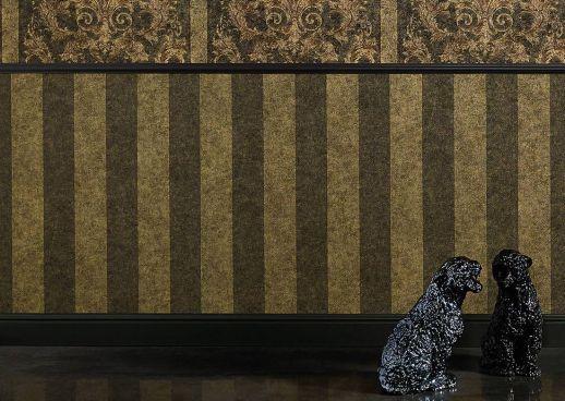 Wallpaper Berenice khaki grey Room View