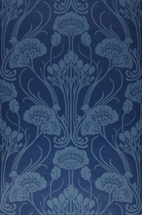 New arrivals! Wallpaper Sibia dark blue Bahnbreite