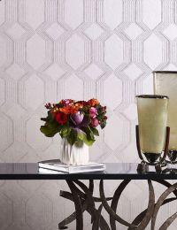 Papel de parede Xander aluminio branco