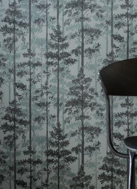 Papel pintado Valira tonos de gris Ver habitación