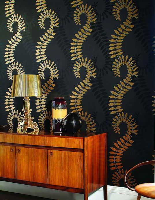 Archiv Wallpaper Amphion gold Room View