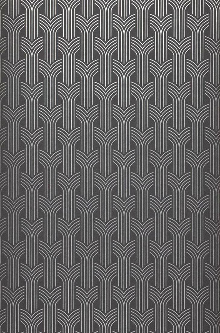 tapete miru dunkelgrau silber tapeten der 70er. Black Bedroom Furniture Sets. Home Design Ideas
