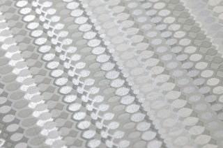 Papel de parede Valentin Mate Listas Tons de cinza Branco acinzentado Prata brilhante