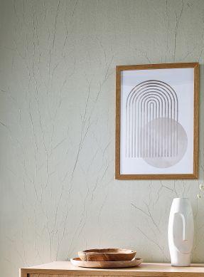 Papel de parede Crush Tree 06 branco cinza brilhante Raumansicht