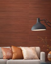 Wallpaper Thin Bamboo Strips 01 Matt Solid colour Grey brown Copper brown Nut brown Ochre brown