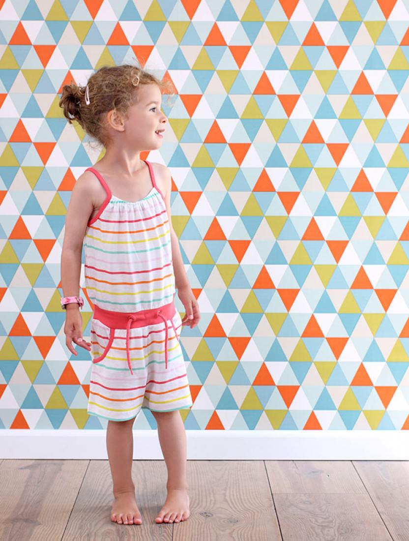 Geometrische-tapete-Kindergarten