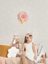 Papier peint Dreamy clouds Aspect impression à la main Mat Nuages Crème Blanc crème