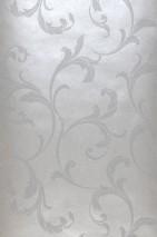 Papel de parede Iwana Brilhante Folhas gavinhas Aluminio branco Branco brilhante
