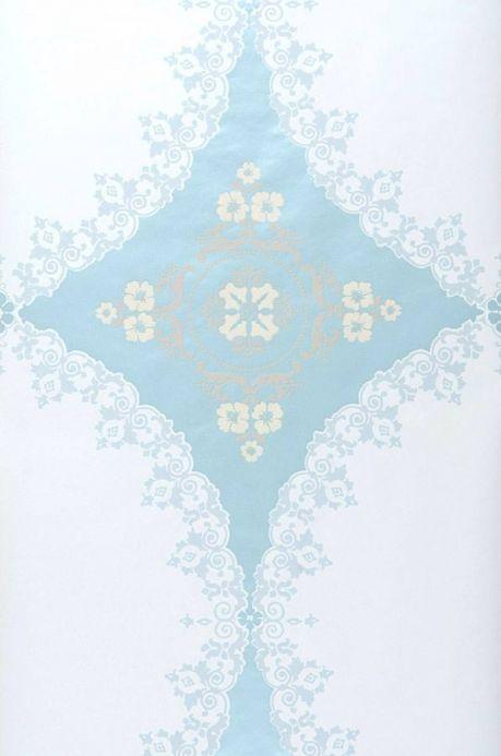 Archiv Carta da parati Selket blu chiaro lucido Larghezza rotolo