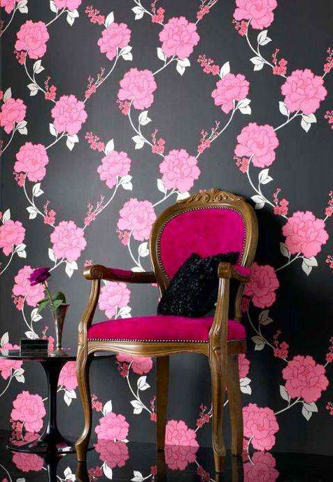 Archiv Papier peint Midas rose vif Vue pièce