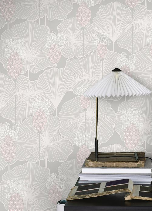 Modern Wallpaper Wallpaper Kagome light grey Room View