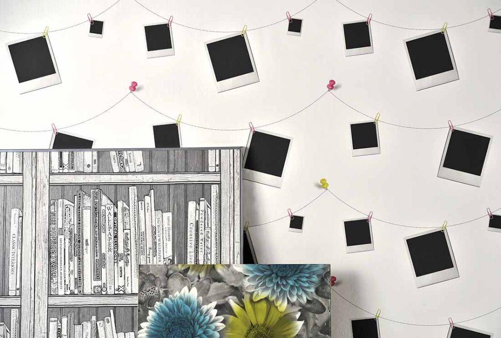 Archiv Papier peint Polaroid noir Vue pièce