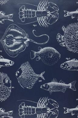 Wallpaper Oceano dark blue Bahnbreite