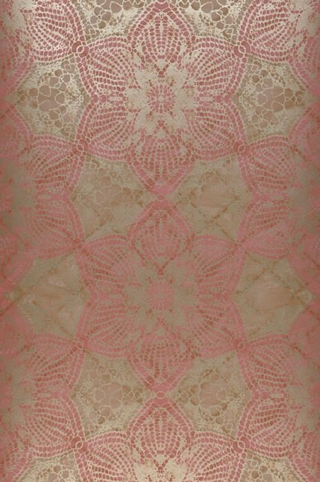Wallpaper Marrakesh Matt African style Floral damask Pale brown Antique pink Pearl beige