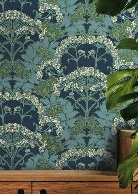 Wallpaper Zarabia dark blue Raumansicht