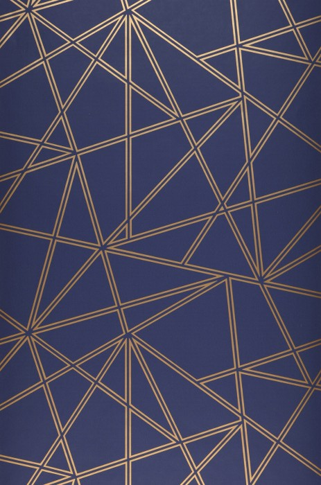 Wallpaper Habakuk Shimmering pattern Matt base surface Graphic elements Modern Art Grey blue Gold