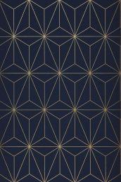 Papel de parede Morton azul aço