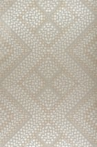Wallpaper Yamuna Shimmering Geometrical elements Pearl beige Light ivory Pearl gold