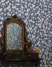 Wallpaper Laila blue grey