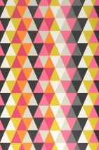 Wallpaper Kaleidoscope Matt Kaleidoscope Cream Yellow green Magenta Black