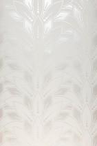 Papier peint Fadila Motif mat Surface chatoyante Art Déco Fleurs stylisées Blanc crème brillant