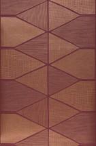Papier peint Enzo Motif chatoyant Surface mate Éléments graphiques Violet Doré brillant